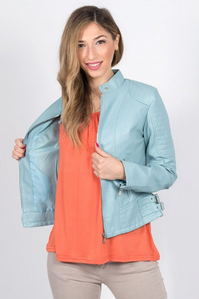 FAUX LEATHER JACKET 73411 S