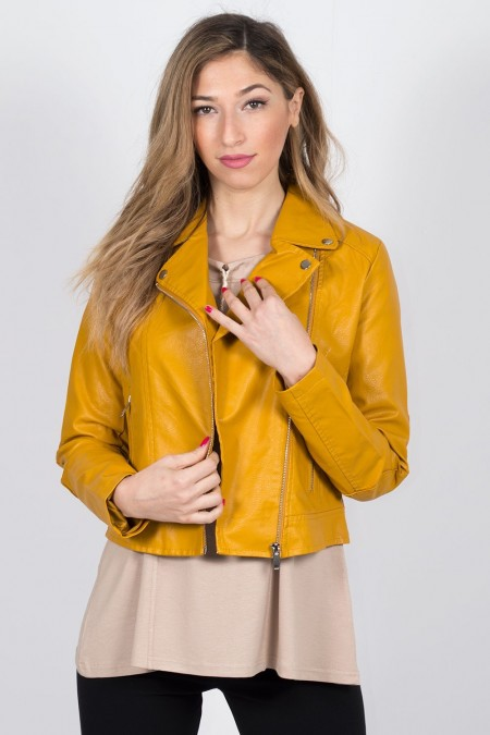 FAUX LEATHER JACKET 73411 MO