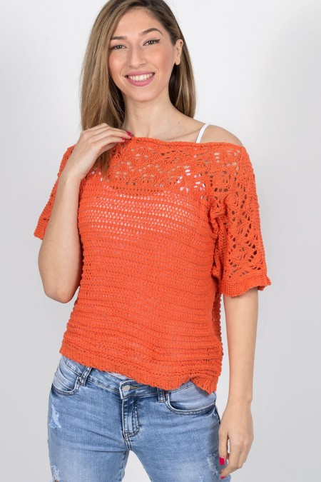 KNITTED BLOUSE 72056 PO