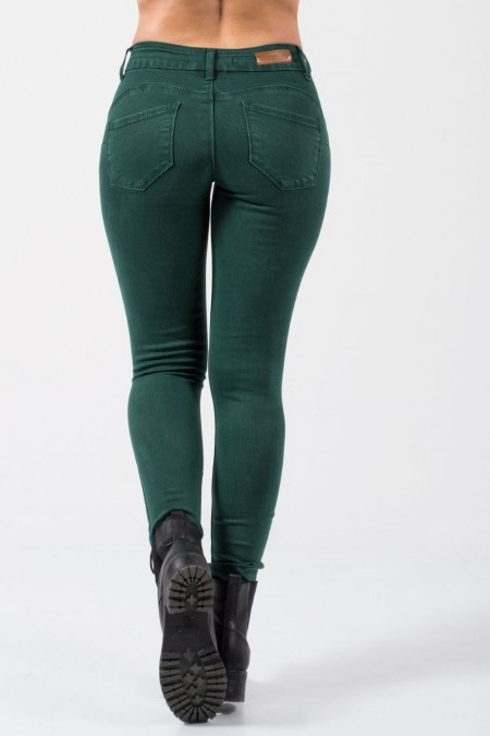 Push Up Denim Jeans - Green
