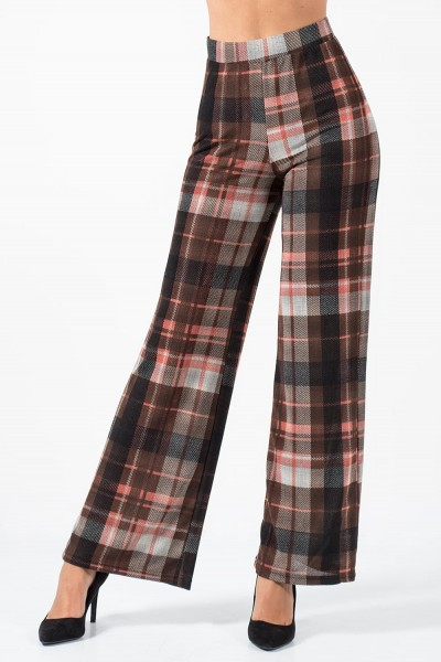Wide Pants Plaid - Red