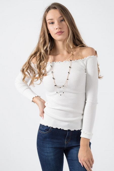 Cold Shoulders - White