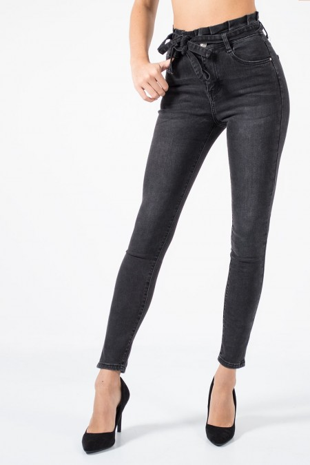 High Rise Jeans - Grey