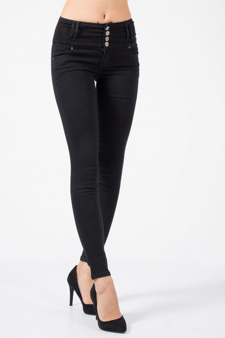 High Rise Jeans - Black