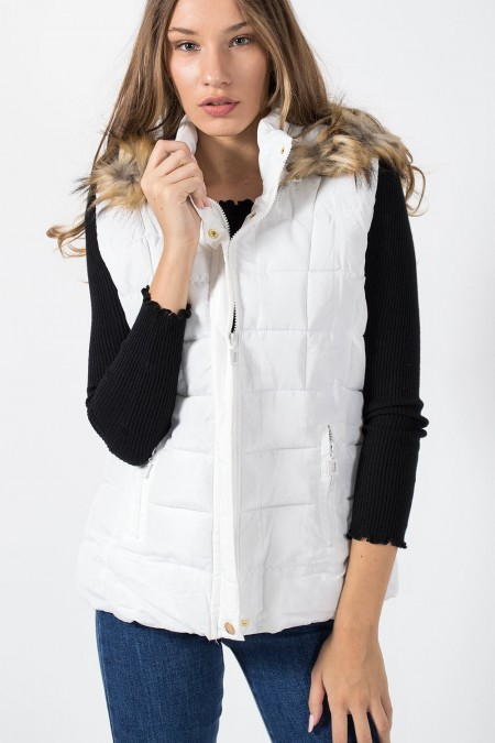 Jacket Sleeveless - White