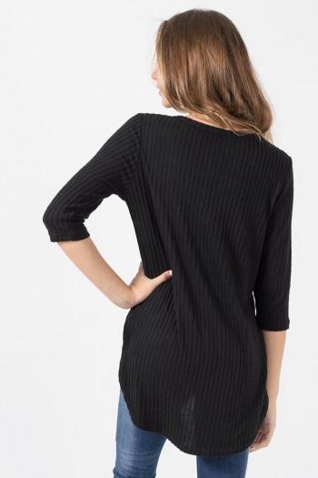 Μπλούζα Ασύμμετρη - Μαύρο