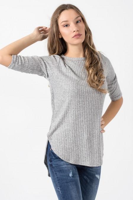 Blouse Asymmetric - Grey