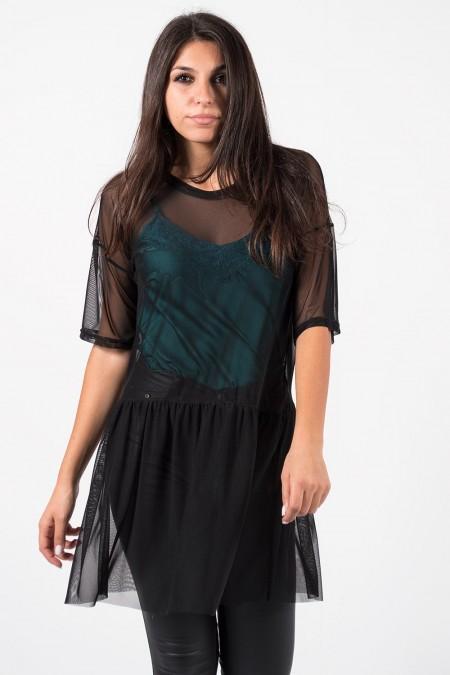 Μπλούζα Διάφανη - Μαύρο