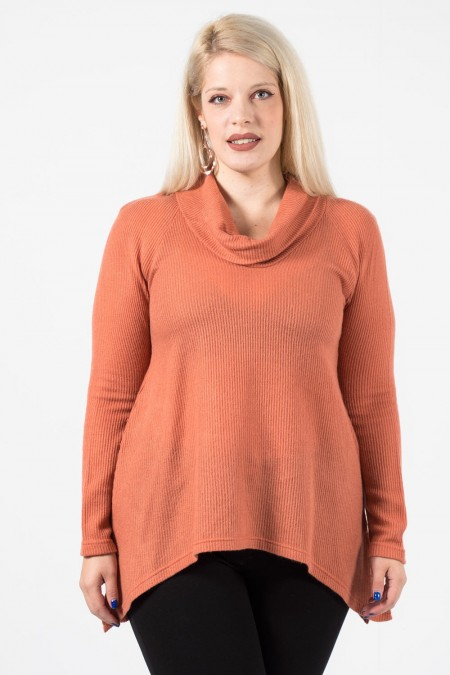 Knitted Blouse - Salmon