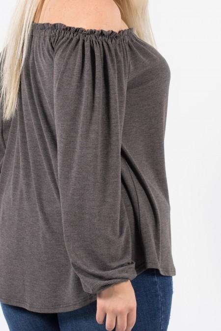 Top Off the Shoulders - Grey