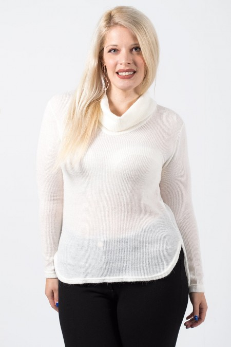 Knitted Blouse - White