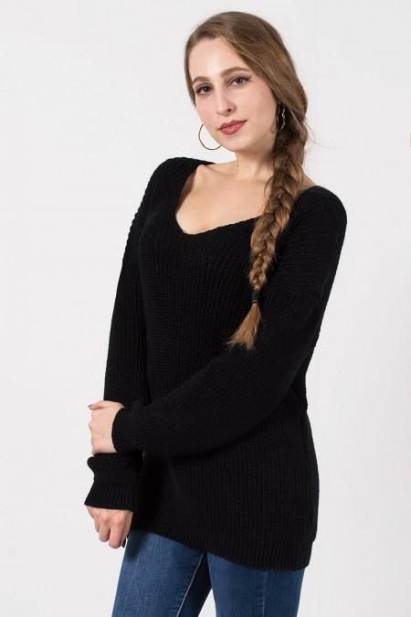 γυναικείο πουλόβερ μαυρο
