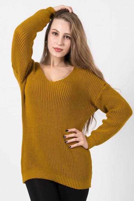 γυναικείο πουλόβερ μουσταρδί