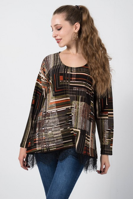 Blouse Printed - Red