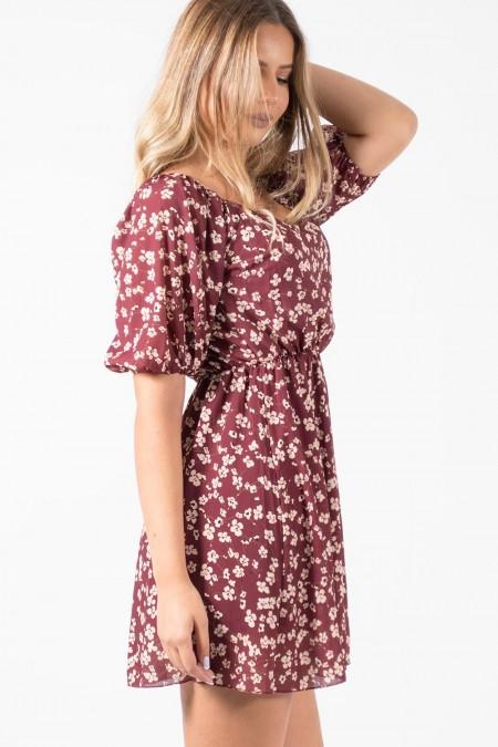 Φόρεμα Φλοράλ - Κόκκινο