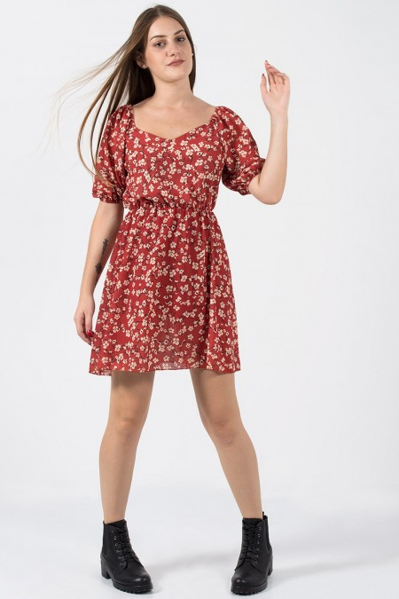 Dress Floral - Red