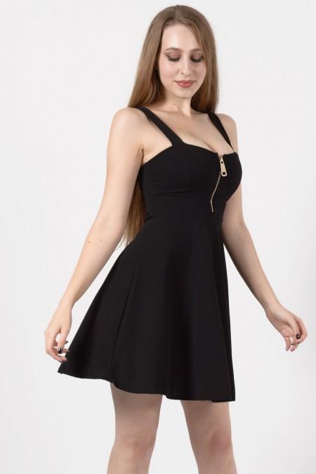 Μαύρο Μίνι Φόρεμα Α γραμμή