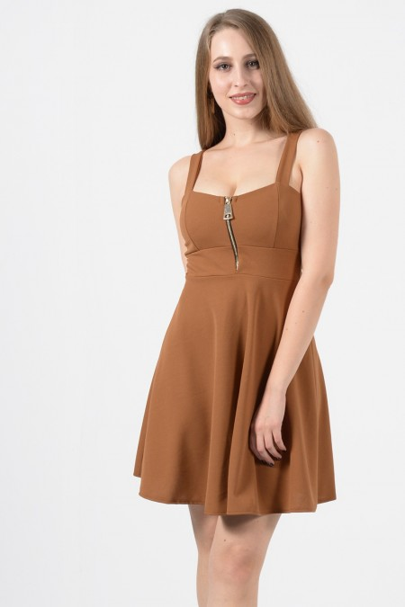 Mini Dress - Camel