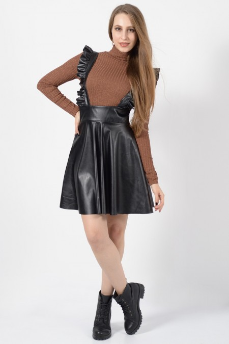 Skirt with Straps - Black