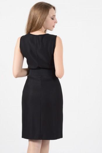 Φόρεμα μίντι μαύρο