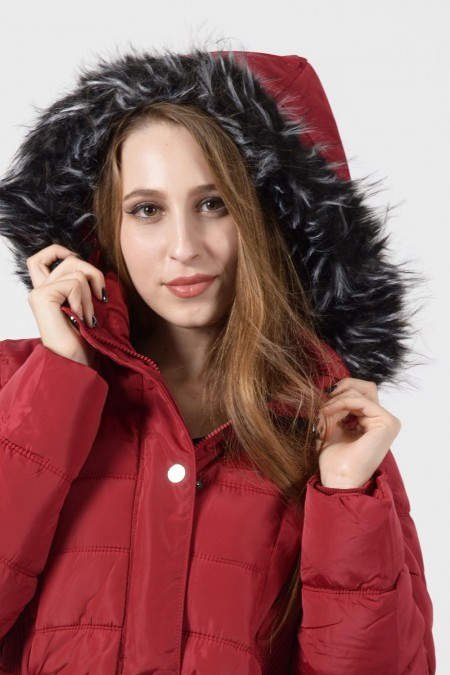 Puffer Coat - Red