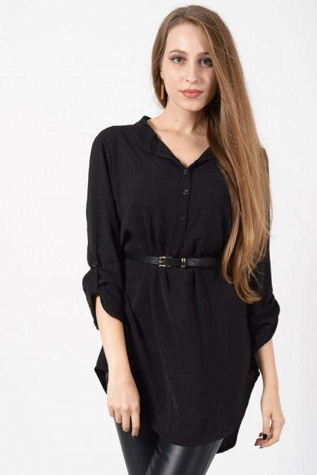 Tunic with Belt - Black