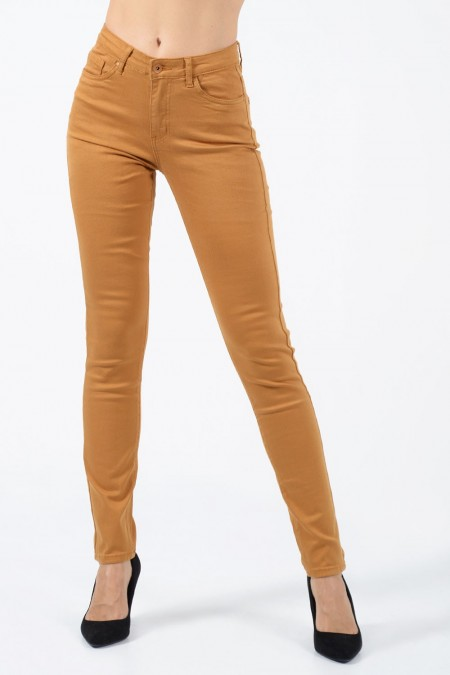 Trousers Push Up - Ochre
