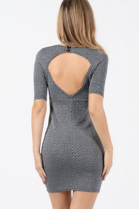 Mini Dress - Silver