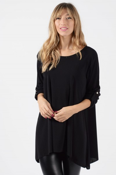 Μπλούζα Φαρδιά - Μαύρο