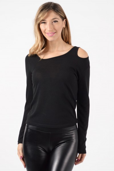 Long Sleeve Top - Black