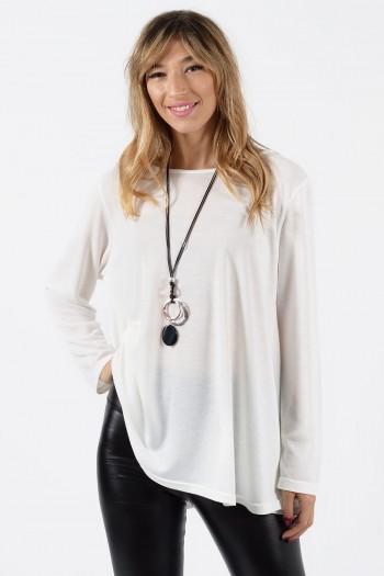 Μπλούζα Φαρδιά - Λευκό