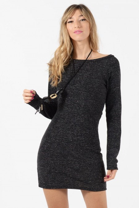 Φόρεμα Πλεκτό - Ανθρακί