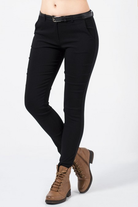 παντελόνι μαύρο με ζωνάκι