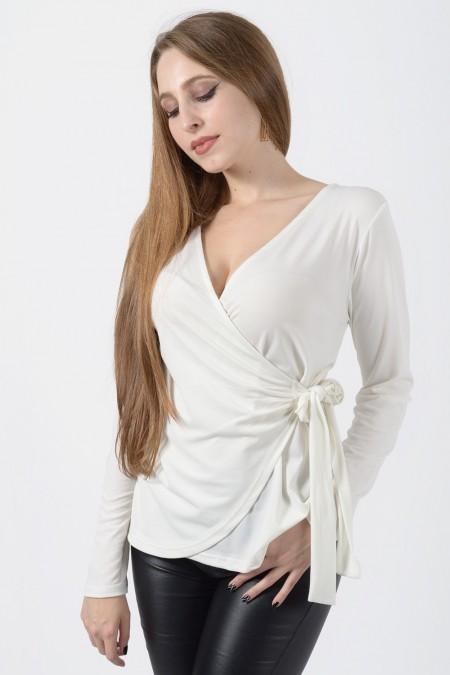 Μπλούζα Κρουαζέ - Λευκό