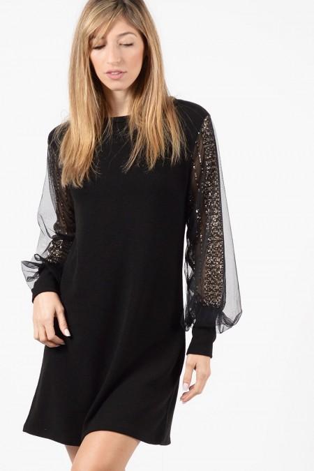 φόρεμα-μαυρο-διαφανα-μανικια-1