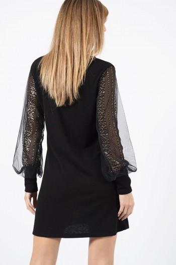 φόρεμα-μαυρο-διαφανα-μανικια-2