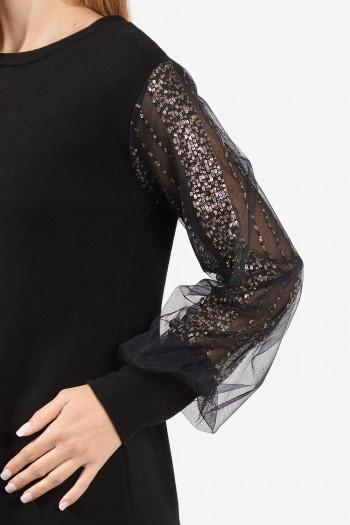 φόρεμα-μαυρο-διαφανα-μανικια-3