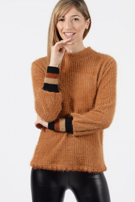 Knitted Blouse - Camel
