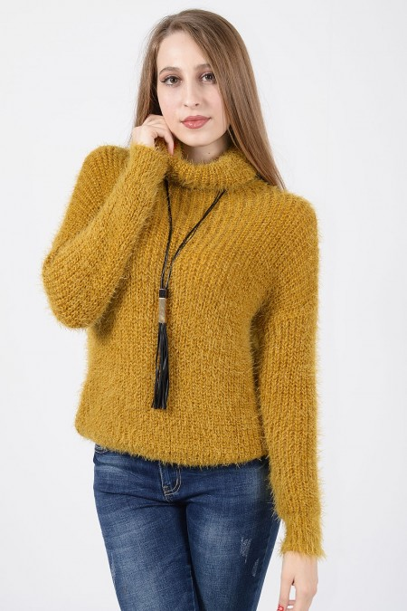 Hairy Knitted Sweater -...
