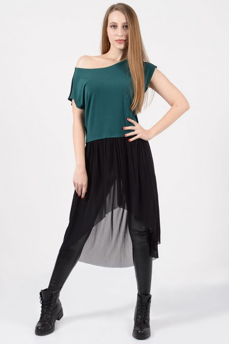 Top with Tulle - Petrol
