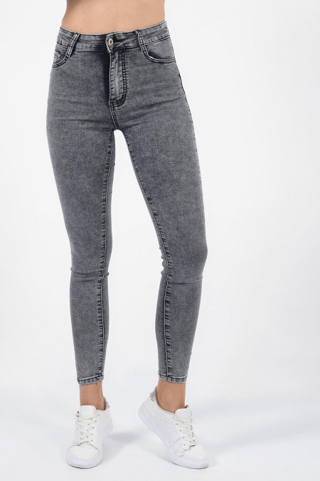 Stone Washed Jeans - Grey