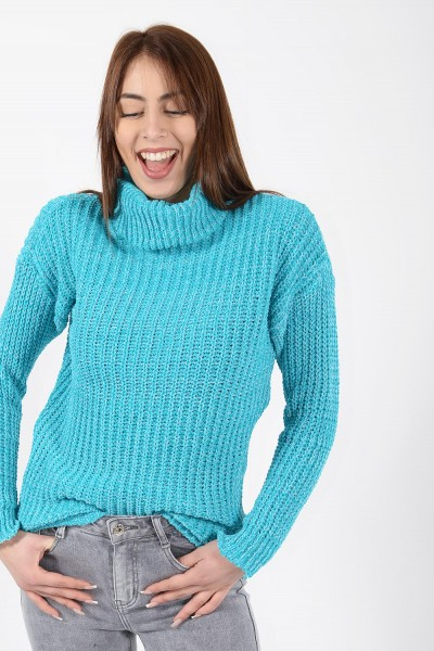 Chenille Knit - Turquoise