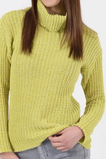 Γυναικεία Μπλούζα Πλεκτό Σενίλ - Λαχανί