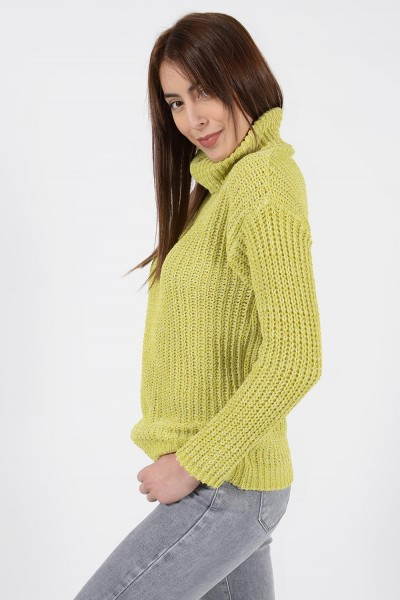 Chenille Knit - Lime