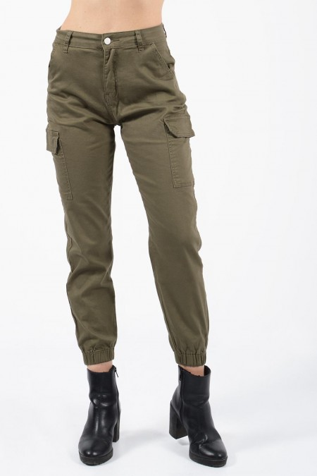 Jeans with Pockets - Olive...