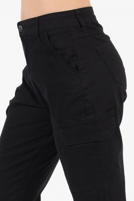 Jeans with Pockets - Black