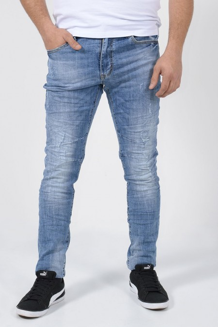Denim Jeans Wrinkled