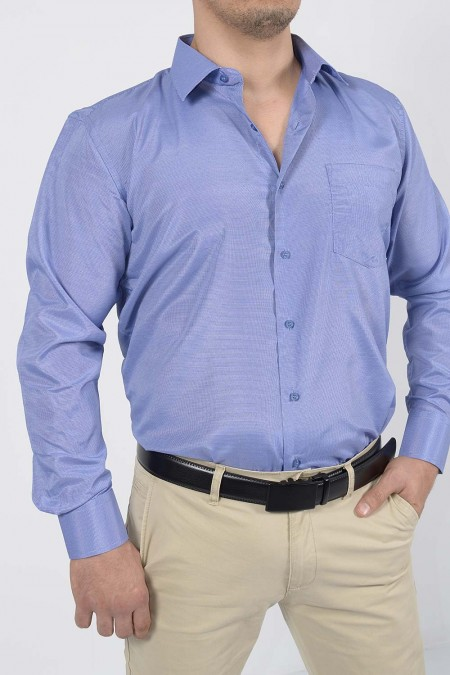 Shirt with pocket - Blue