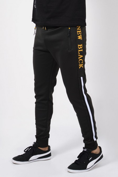 Sweatpants - Black/Yellow