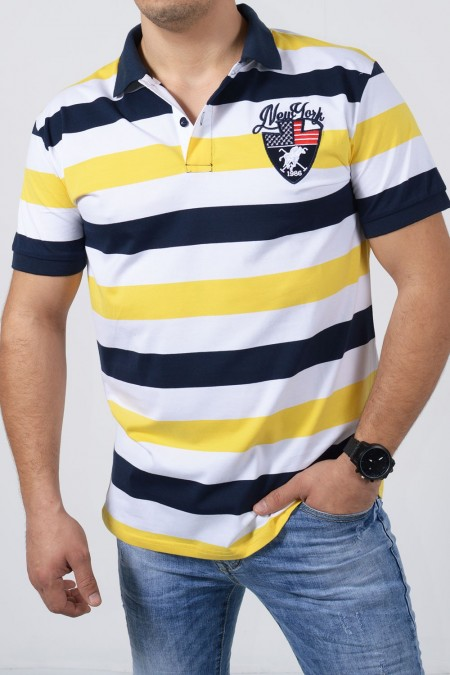 Men's Polo Blouse - Yellow